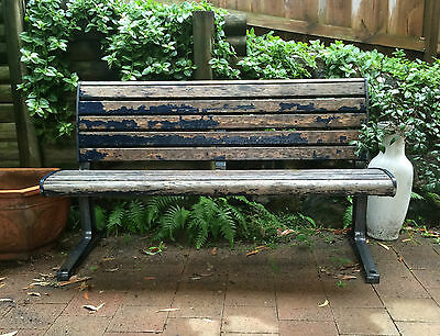 Cast iron 'antique' / industrial outdoor bench seat