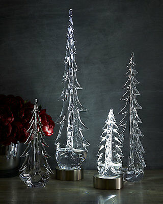 "SIMON PEARCE Evergreen Glass Trees 20"" Evergreen Glass Tree  only"