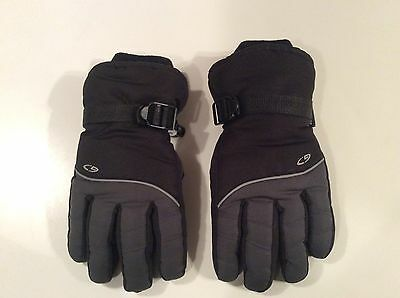 Youth C9 Champion Thinsulate Waterproof Gloves Black and Grey Size 8/16