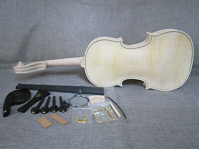 Unfinished violin4/4,flame maple of back/ ebony fingerboard and parts 5#