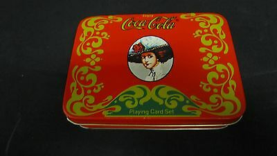 Coca Cola playing card tin coke #5045
