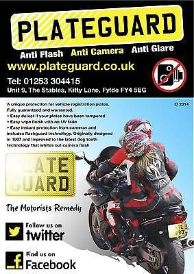 ONE PAIR Number Plate Flash Protection System Flash Guard & PlateGuard