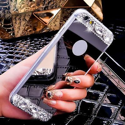Fashion Bling Diamond Mirror Back TPU Soft Case Cover For iPhone 6/6S 4.7inch