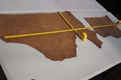 Two tone Brown Cowhide remnants Semi aniline finish 1-1.2 mm Cow hide leather