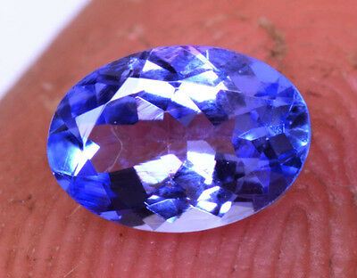 0.70 Ct Oval Shape Natural Violet Blue Tanzanite (D Bolck) With Certified UK 508