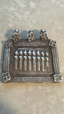 7 Sister's - Old antique tribal silver necklace amulet pendant Hindu 15.1 Grams