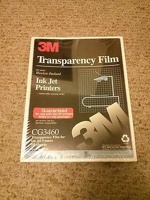 cg3460 3M Transparency Film Ink Jet printers 50 sheets
