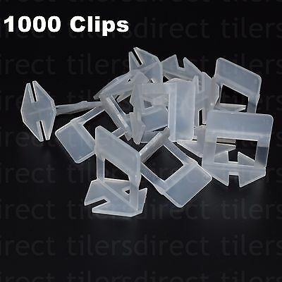 Tile Leveling System Kit 1000 Clips Only Levelling Spacer Tiling Flooring Tool