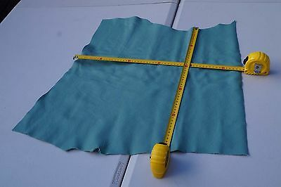Light green Elmo upholstery cowhide piece/off-cut 57 x 52cm Grainy Cow leather