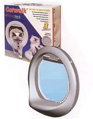 Catwalk Cat & Small Dog Multi Magnetic Key Glass Fitting Pet Flap -No Stray Cats