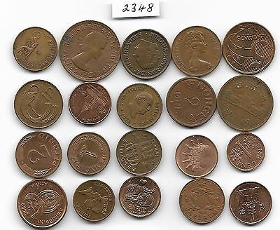 World x 20 Browny Coloured All Differant Coins