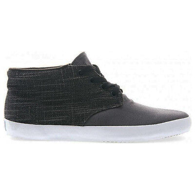 Vans Off The Wall Del Norte Surf Mens Woven Mid Top Skate Shoes Pewter/Black