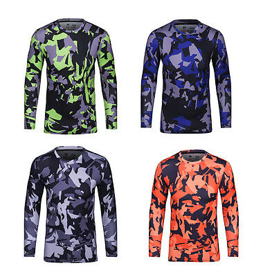 Men's Camouflage Compression Base Layer Tops Training Tights Long T-shirts I363