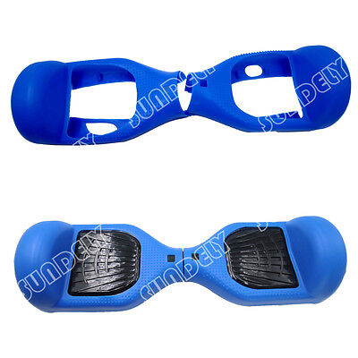 """Blue Silicone Protective Case Cover For 6.5""""Self Balancing Scooter Hoverboard UK"""