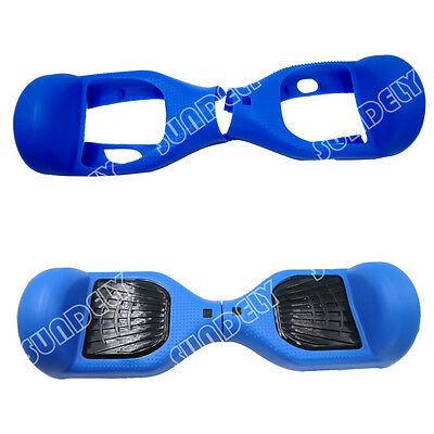 """Hi-Q Silicone Silikon Cover For 6.5"""" Hoverboard Balance Scooter 2 Wheels Blue UK"""