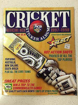 Amazing Select Acb  1997-1998 Season Cricket Sticker Book, Complete