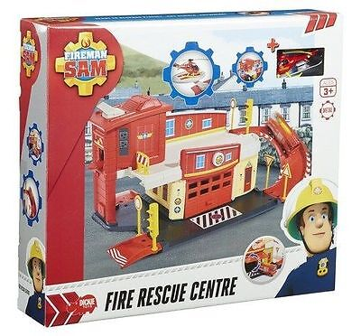Fireman Sam Fire Rescue Centre Die-Cast Playset with Wallaby One Helicopter