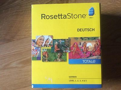 Rosetta Stone German Levels 1-5  (Complete) w/ Audio CD - NO HEADSET INCLUDED