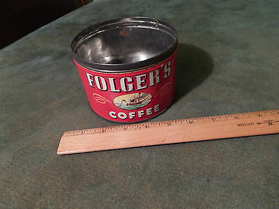 Folgers Coffee (METAL TIN) by CANCO (1946) J.A.F & Co. [Post WWII] Nautical Ltd.