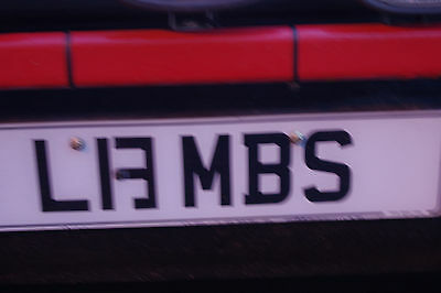 LAMBS private number plate