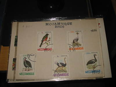Mozambique stamps Birds used set