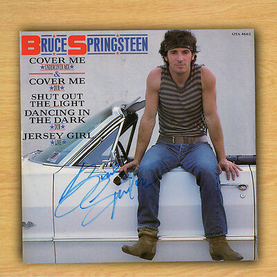 "Genuine Record 12"" Vinyl Sleeve Bruce Springsteen / Cover Me with COA"