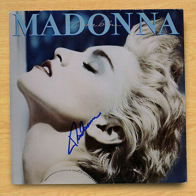 "Genuine Record 12"" Vinyl Sleeve Madonna / True Blue with COA"