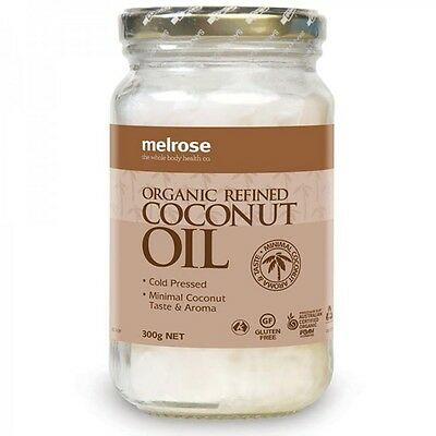 Melrose ORGANIC Refined 100% Pure Virgin COCONUT OIL Cold Pressed 300g