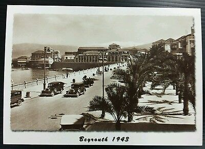 Lebanon Post Card of old Beirut 1943 (Avenue des Francais) in B & W