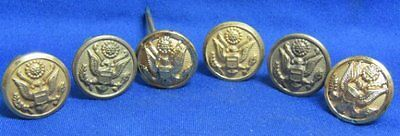 WWII Army Hat Buttons Sets Lot Of 6