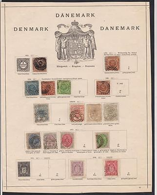 DANEMARK- Collection of old stamps with obliteration
