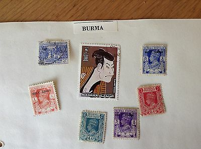 Collection of Vintage Stamps - Myanmar