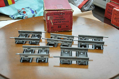 "FIVE VINTAGE HORNBY  ""O"" GAUGE No.""B1/4 ""  2.5""  QUARTER STRAIGHT RAIL BOXED"