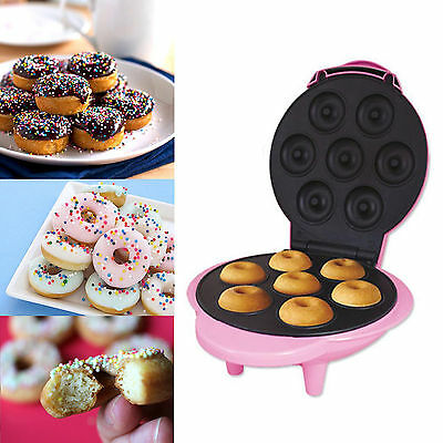 Pink Electric Non Stick Mini Doughnut Maker Machine