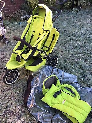 phil and teds double buggy/ stroller with cocoon