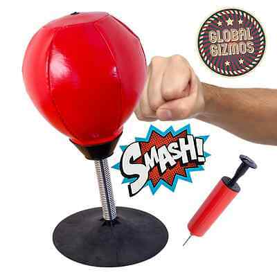 Desktop Punch Punching Bag Speed Ball Stand Boxing Training Practise with Pump