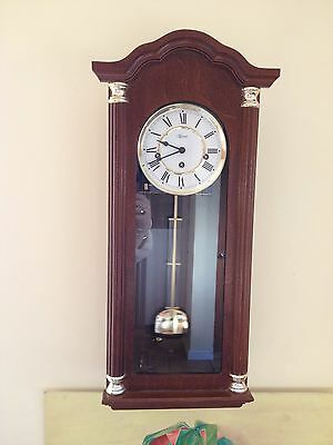 Hermle 8 Day Westminster Chiming/silent Wall/hanging Clock Good Working Order