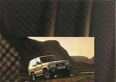 ISUZU TROOPER 3.2V6 3.1TD STD DUTY CITATION foldout 1992/93 UK market brochure