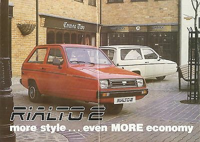 RELIANT RIALTO 2 SALOON ESTATE VAN & GLS original c 1986 UK market brochure