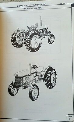 LEYLAND TRACTOR PARTS CATALOGUE AUSTRALIA Mini 154 Nuffield Diesel and Petrol