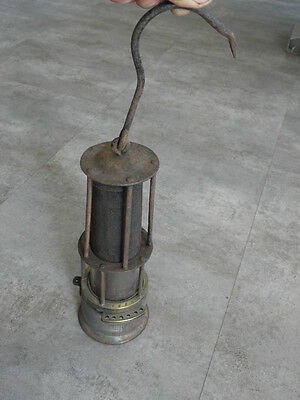 antique lamp cage Minor Miner's mining 1860 mineur brass glass DETECTOR miners