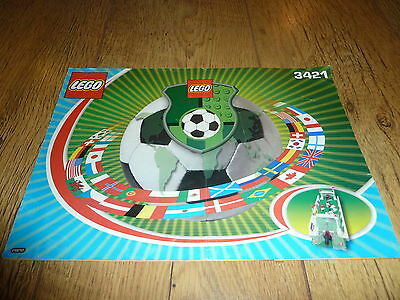 Lego 3421 Football Shoot Out Instruction Manual Only - No Bricks Or Figures