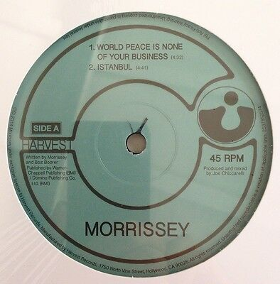 """MORRISSEY ★ World Peace Is None Of Your Business★ Limited Ed. Vinyl 10"""" SEALED!"""