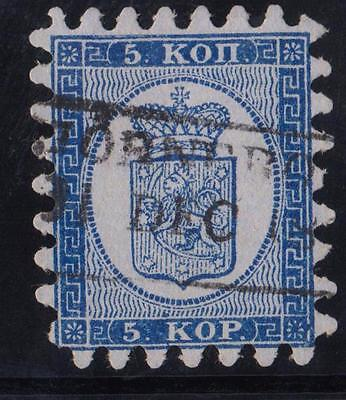 FINLAND  N °: 3Aa  Serration TYPE II  Stamp with obliteration CATALOGUE : 300 €