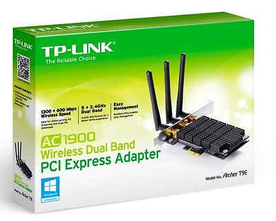 TP-LINK Archer T9E AC1900 Dual Band Wireless PCI Express Adapter with Three Ante