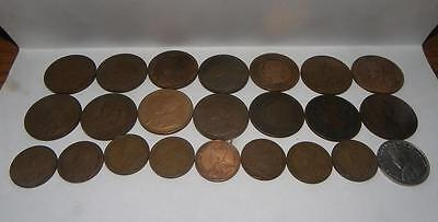23 Canadian Coins 1859-1935 22 One Cent 1 5 Cent