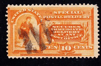 "Scott # E-3 (SD-2)  10¢ Orange ""Special Delivery Messinger Running""  Used"