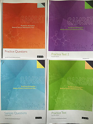 Official GAMSAT 2017 preparation booklets (All booklets worth £73)