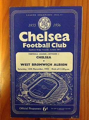 Chelsea v West Bromwich Albion 1955 Football Programme