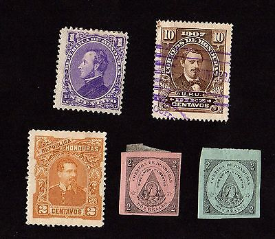 Stamps ~ HONDURAS South America ~ EARLY
